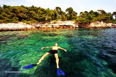 Relaxing at the Lerins islands near Cannes