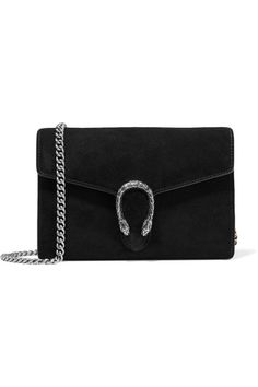 bbad7bb15043 Black suede and leather (Calf) Push clasp-fastening front flap Comes with  dust bag Weighs approximately Made in Italy