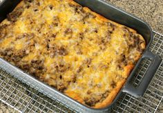 Ground Beef Stroganoff Bake with Crescent Crust.  (I added frozen vegetables as it is heavy on the meat.  great protein though.) I works good with the break on the bottom.  very winter day food.