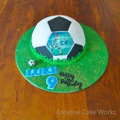 Soccer Ball Cake Christiano Ronaldo