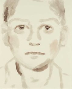 Light of touch, poignant portraits of children -  delicate and innocent until you spot the name attached ! This one is Saddam Hussein. By Annie Kevans.