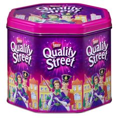 Quality Street choccies!  yum! we got them every Christmas and I ate all the chocolate covered brazil nuts first!