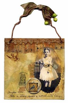 Everyone Has a Story by Iva's Creations, via Flickr with a sweet PaperWhimsy beauty.