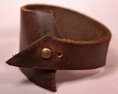 Recycled Leather Scrap Cuff