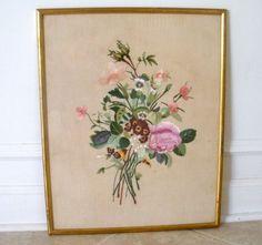 vintage silk embroidery