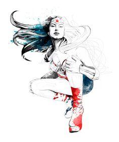 "Wonder Woman | David Despau | for the ""Darkness Light"" exhibit at DC's Burbank office"