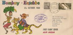 Holger's Cover collection: Air India First Flight 1968
