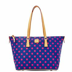 Dooney & Bourke: Polka Dot Zip Top Shopper