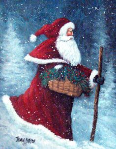 Santa's On His Way by Jamie Carter - licensing through Porterflds.