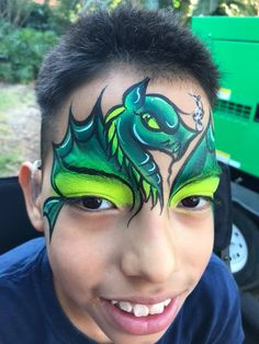 Mask: dragon: one stroke Spider Face Painting, Monster Face Painting, Dragon Face Painting, Face Painting For Boys, Face Painting Designs, Body Painting, Animal Face Paintings, Animal Faces, Boy Face