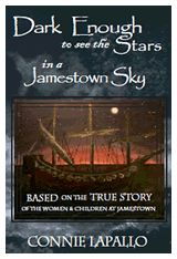Dark Enough to See the Stars in a Jamestown Sky by Connie Lapallo copyright 2011 - a novel set in the early period of settlement in Virginia - the first of a trilogy 5th Grade Social Studies, Teaching Social Studies, Teaching Time, Jamestown Colony, Jamestown 1607, Book 1, This Book, Virginia Studies, Books To Read