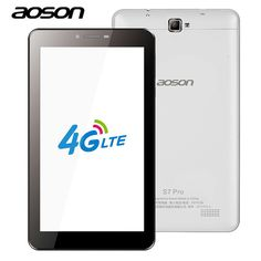 Aoson S7 PRO 7 Inch 4G LTE-FDD Phablet 8GB ROM HD IPS Screen Android 6.0 Phone Call Tablet PC Quad Core Dual Camera Wifi MiroUSB