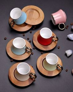 different color bambulu coffee set models with up to discount, installment shopping, fast shipping, unbreakable packaging and after sales support opportunity. Kitchen Items, Home Decor Kitchen, Kitchen Utensils, Coffee Set, Coffee Love, Home Decor Accessories, Kitchen Accessories, Assiette Design, Wood Cafe