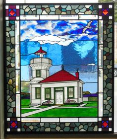 110 best stained glass lighthouses images stained glass fused rh pinterest com