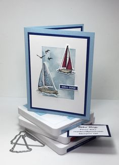 Masculine Birthday Cards, Birthday Cards For Men, Masculine Cards, Birthday Greeting Cards, Hand Made Greeting Cards, Making Greeting Cards, Stampin Up, Nautical Cards, Beach Cards