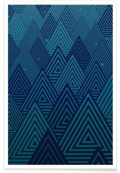 Indigo Mountains als Premium Poster von Angelo Cerantola | JUNIQE