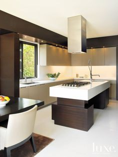 Modern Cream Kitchen with Geometric Forms