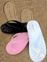 Just Married Sparkly Flip Flop   The Bridal Gift Box   Wedding & Bridal Gifts