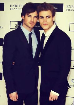 OMG I love these guys!!! Damon and Steffin  DAMON IS PERFECT!!!!! Ps: he's the one on the left YES YESS YESSS!!!!
