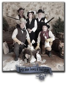North Texas Society of Gunfighters.  Photo taken by Miss Purdy's Old Time Photos.