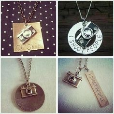 Hand stamped Photography Necklace find more at Treasured Trinkets on Facebook!