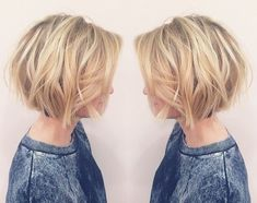 Messy Honey Blonde Bob