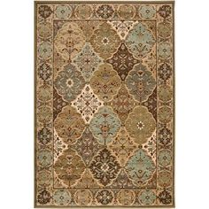 @Overstock - A geometric border and motif accent this polypropylene area rug. This elegant area rug is highlighted with shades of brown, red, and seafoam.http://www.overstock.com/Home-Garden/Loomed-Free-form-Sage-Geometric-Rug-53-x-76/5540742/product.html?CID=214117 $89.99