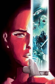 Rey cover art by Mike del Mundo for Star Wars: The Force Awakens #4.