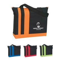 Custom Promotional Tote Bags,  - Tri-Band Tote Bag - 3009 S Silk-Screen - www.BagFrenzy.com 888-259-9668