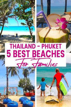 Here are the very best beaches to visit with your kids in Phuket Thailand. Finding the best beach, with calmi clear waters for children, or beaches with kid freidnly activities can be tricky, so we've done a super honest round up to help you plan a day out in Phuket to the best beaches for families!