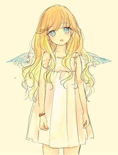 Imagen de anime, angel, and kawaii
