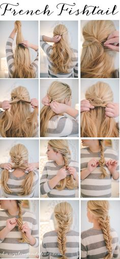 French Fishtail hair tutorial- Bungalowsandolives.com