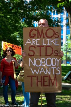 Here's a photo of a March Against Monsanto sign.