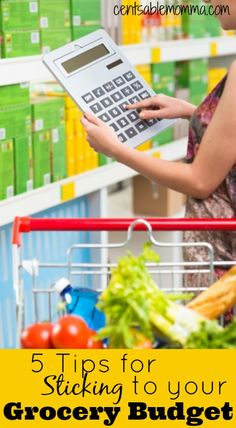 Do you have trouble keeping your grocery budget under control each week?  Try these 5 tips for sticking to your grocery budget to help you with your grocery spending.