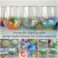 How to Decorate and Add Color to Glassware
