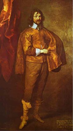 PORTRAIT OF ARTHUR GOODWIN, MP. 1639 c.- oil on canvas. 219,1 × 130,8 cm. Chatsworth. Devonshire Collection.