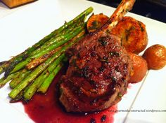 French-Style Antelope Chop /w Herbed Merlot Sauce - This recipe was not posted so I improvised.....
