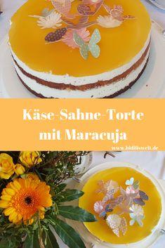 Käse-Sahne-Torte mit Maracuja, Rezept, backen, Kuchen, Torte, Geburtstag, Food