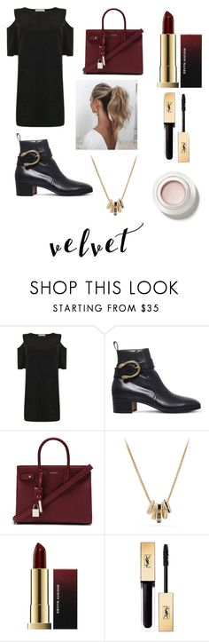 """""""Crushing on Velvet Contest"""" by chicvintagegurl ❤ liked on Polyvore featuring Velvet, Gucci, Yves Saint Laurent, Love Couture and David Yurman"""
