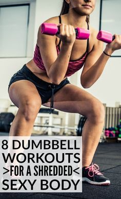 This collection of dumbbell exercises has everything you need for a full-body workout. You'll learn how to work your biceps triceps and forearms a few great ab workouts how to get lean and sexy legs and some great back chest and core exercises. Forearm Workout At Home, Bicep And Tricep Workout, Dumbbell Exercises, Biceps And Triceps, Dumbbell Workout, Toning Exercises, Thigh Exercises, Muscle Training, Strength Training
