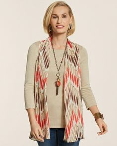 Ikat Sheer Vest from Chico's on Catalog Spree, my personal digital mall.