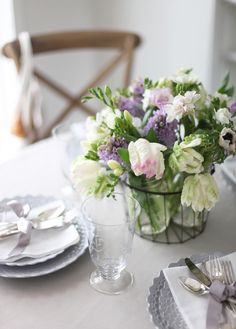 Photography: Style Me Pretty - stylemepretty.com  Read More: http://www.stylemepretty.com/living/2013/03/28/a-simple-easter-tablescape/