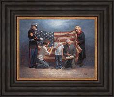 Patriotic - Americana - Mending The Nation - McNaughton Fine Art American Spirit, American Pride, American Flag, American History, American Symbols, American Decor, First Nations, Jon Mcnaughton, Litho Print