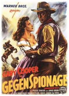 SPRINGFIELD RIFLE (1952) - Gary Cooper - Phyliss Thaxter - David Brian - Paul Kelly - Directed by Andre de Toth - Warner Bros. - German Movie Poster.