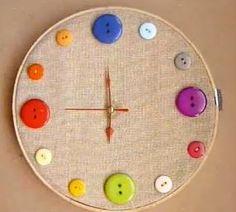 Cómo hacer un reloj de yute con botones