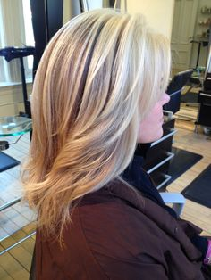 Face framing  blonde highlights dimension