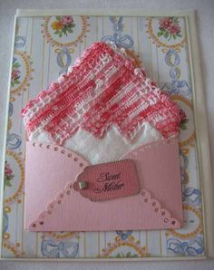 Vintage Crocheted Pink Handkerchief Mother