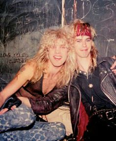 Steven Adler and Duff just awesomeness