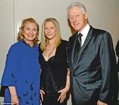 Barbara with the Clintons in April last year