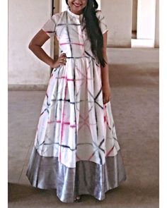 White tie and dye dress by Vastra | The Secret Label